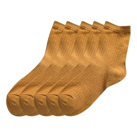 Kentop 5 Pares Calcetines Termicos Mujer Calcetines de Algodón Deportivo Casual Calcetines