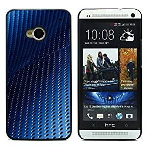 Graphic4You GRADIENT BLUE METAL HOLES PATTERN HARD CASE COVER FOR HTC One (M7)