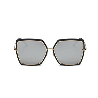 2018 New Big Box Polarisé Fashion Trend Square Street Beat Quatre Couleurs Unisexe Lunettes De Soleil,Silver