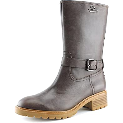 Womens Genie Leather Closed Toe Mid-Calf Fashion Boots