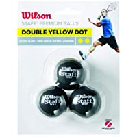 Wilson Squash Topu Staff Squash 3 Ball Yel Dot TOPSQSWIL008