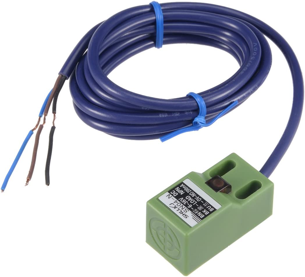 sourcing map 4mm Capteur switch approche proximit/é NPN NO DC 6-36V 200mA 3fil SN04-N