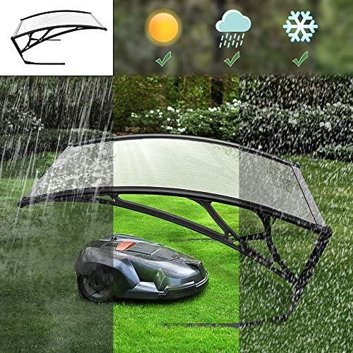 Turefans Caseta para Robots cortacésped,Refugio para Robot segador, protección del Sol y Las tormentas, 102 x 78.3 x 34 cm (Gris Claro): Amazon.es: Jardín
