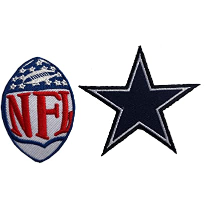 best deals on ea16d 73fca Hipatch Dallas Cowboys Embroidered Patch Iron on Logo Vest Jacket Cap  Hoodie Backpack Patch Iron On/sew on Patch Set of 2Pcs