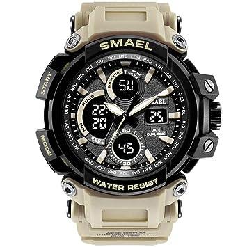 SW Watches SMAEL Relojes Deportivos Reloj De Reloj De Doble Pantalla Impermeable Reloj Resistente A Los Golpes Reloj Militar Digital Hombre,E: Amazon.es: ...