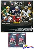 2017 Panini NFL Football Stickers MASSIVE 50 Pack Factory Sealed Box with 350 STICKERS! Plus BONUS (10) 2016 Leaf Football ROOKIES! Look for Stickers of Tom Brady, Dak Prescott, Aaron Rodgers & More!