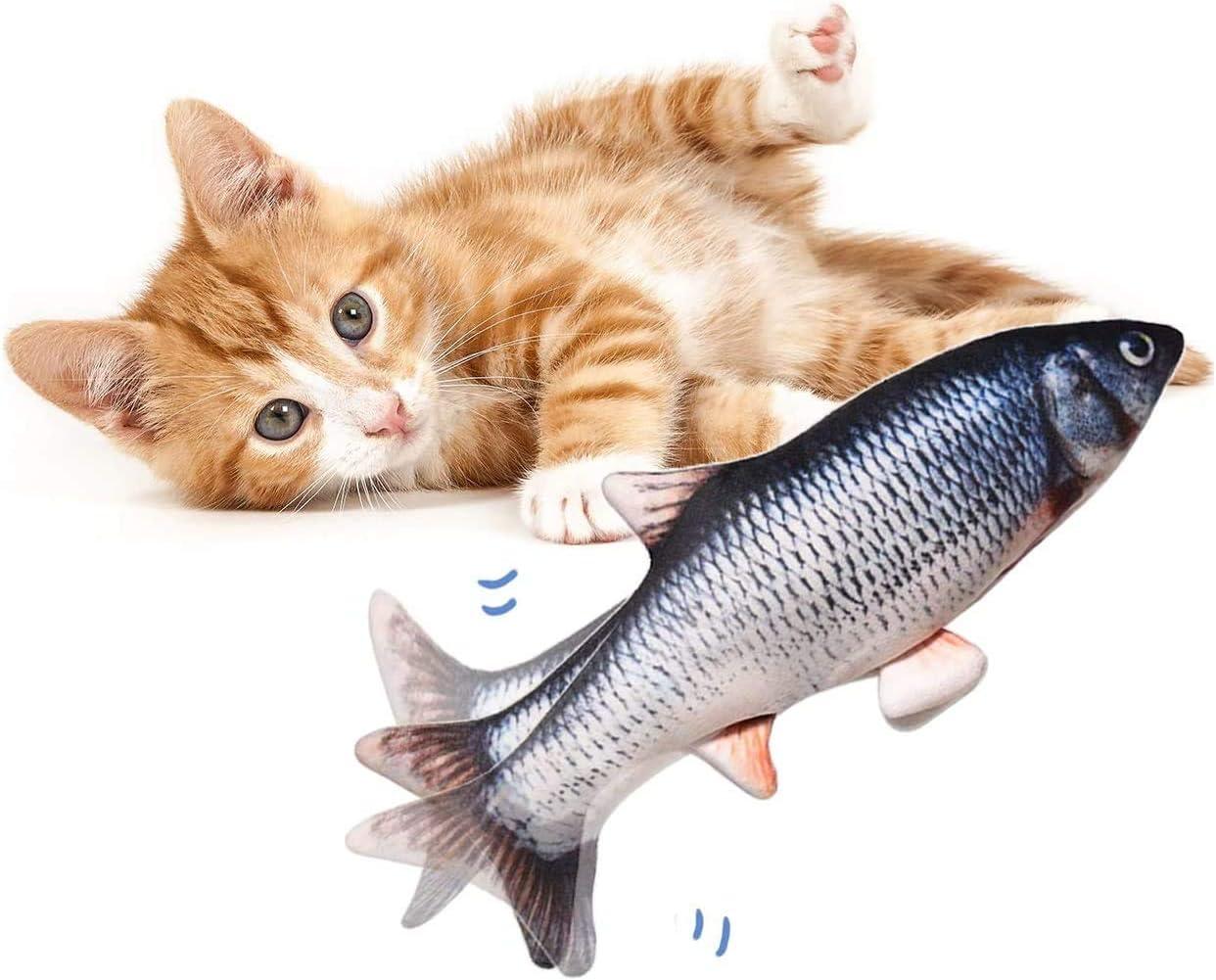 Kittens Fun Colorful Fish Set of 4 Catnip Ravioli Pillow Toys Cats