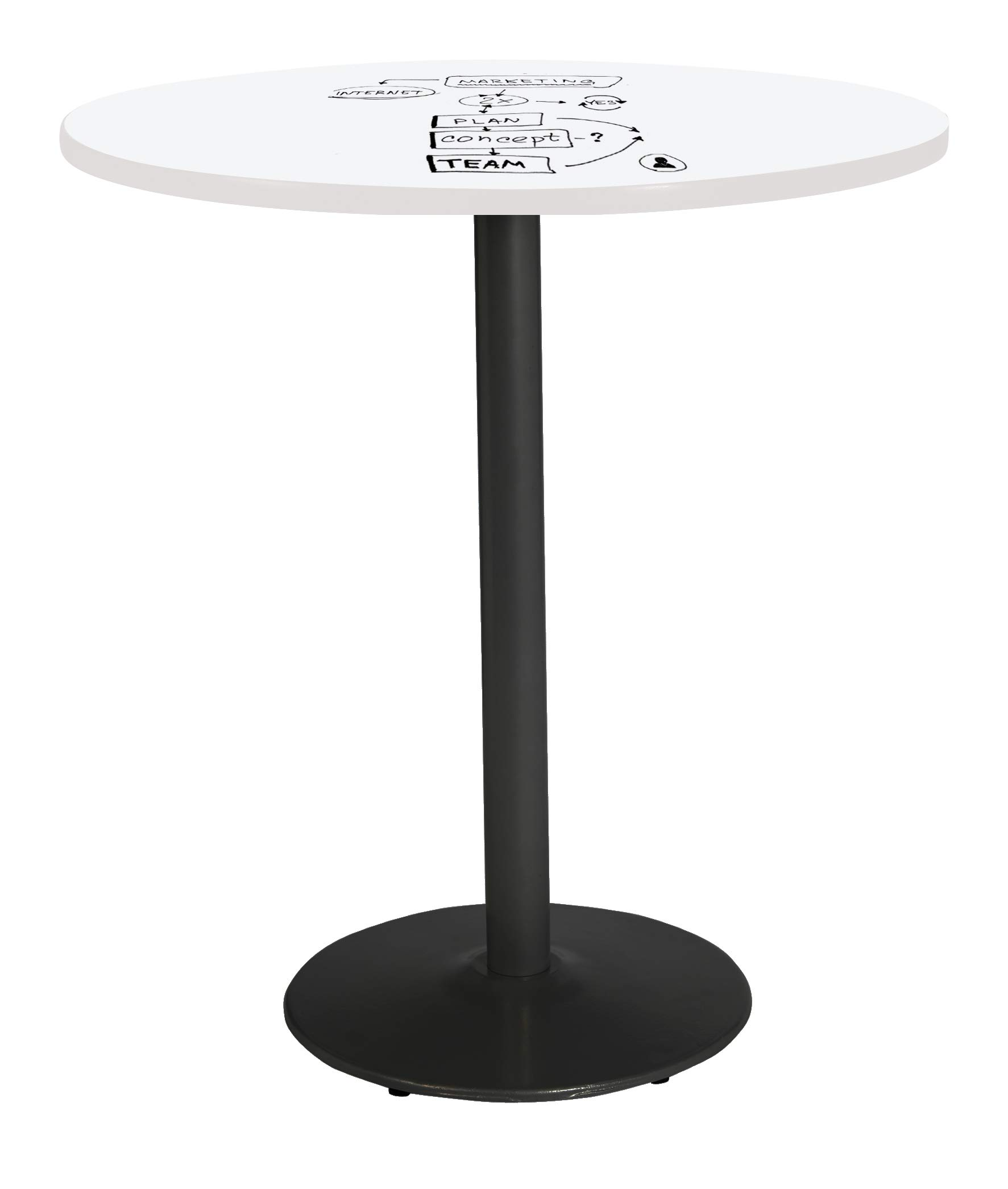 KFI T42RD-B1922-BK-3105-WH-38 Mode Pedestal Table 42'' White