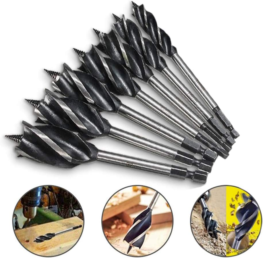 Industrial Drill Bit Set, Professional Twist Drill Bits 10-35mm Woodworking Drill Bit Reaming Drill Can Quick Change and Multiple Specifications (5Set),24mm 28mm