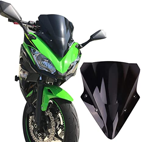 Amazoncom Kemimoto Fits Kawasaki Ninja 650 Windscreen Windshield