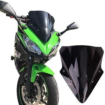 Kemimoto Fits Kawasaki Ninja 650 Windscreen Windshield 2017 2018 2019 Black
