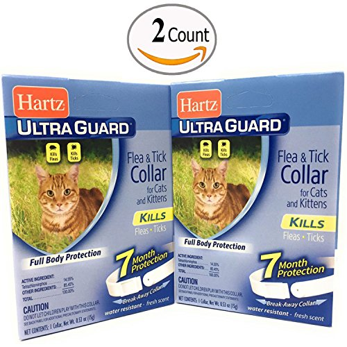 Flea Collar for Cats and Kittens Water Resistant 7 Months Protection Pack of 2