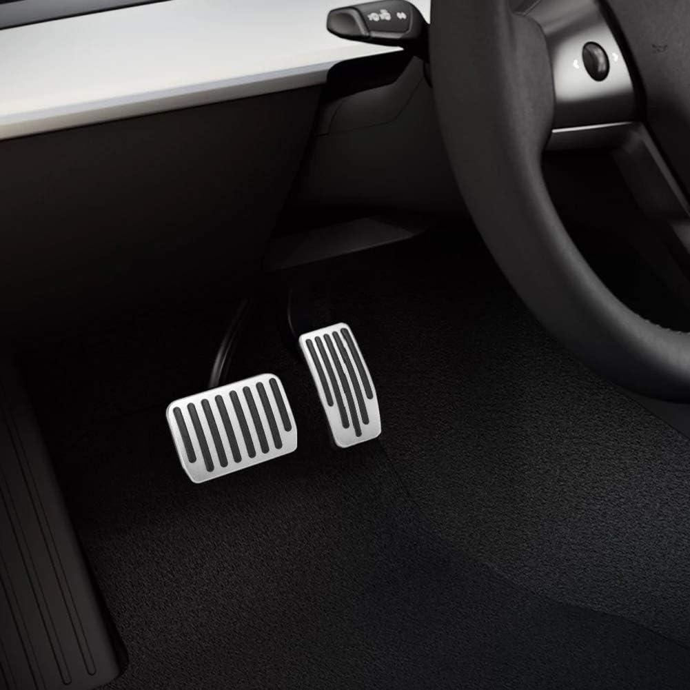 aspeike Performance Pedal Set for Tesla Model 3 for Non-Slip Brake and Accelerator Pedal Covers Auto Aluminium 2Pcs