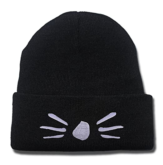 Dan and Phil Cat Whiskers Logo Beanie Fashion Unisex Embroidery Beanies  Skullies Knitted Hats Skull Caps