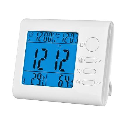 chenci multi-fonction calentador termómetro, alarma, reloj, calendario, higrómetro electrónico Digital