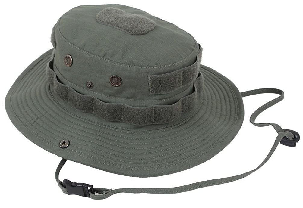Amazon.com  Boonie Hat 100% Cotton Rip Olive Drab Green Tactical Boonie Hat  With Loop  Clothing cd995670200