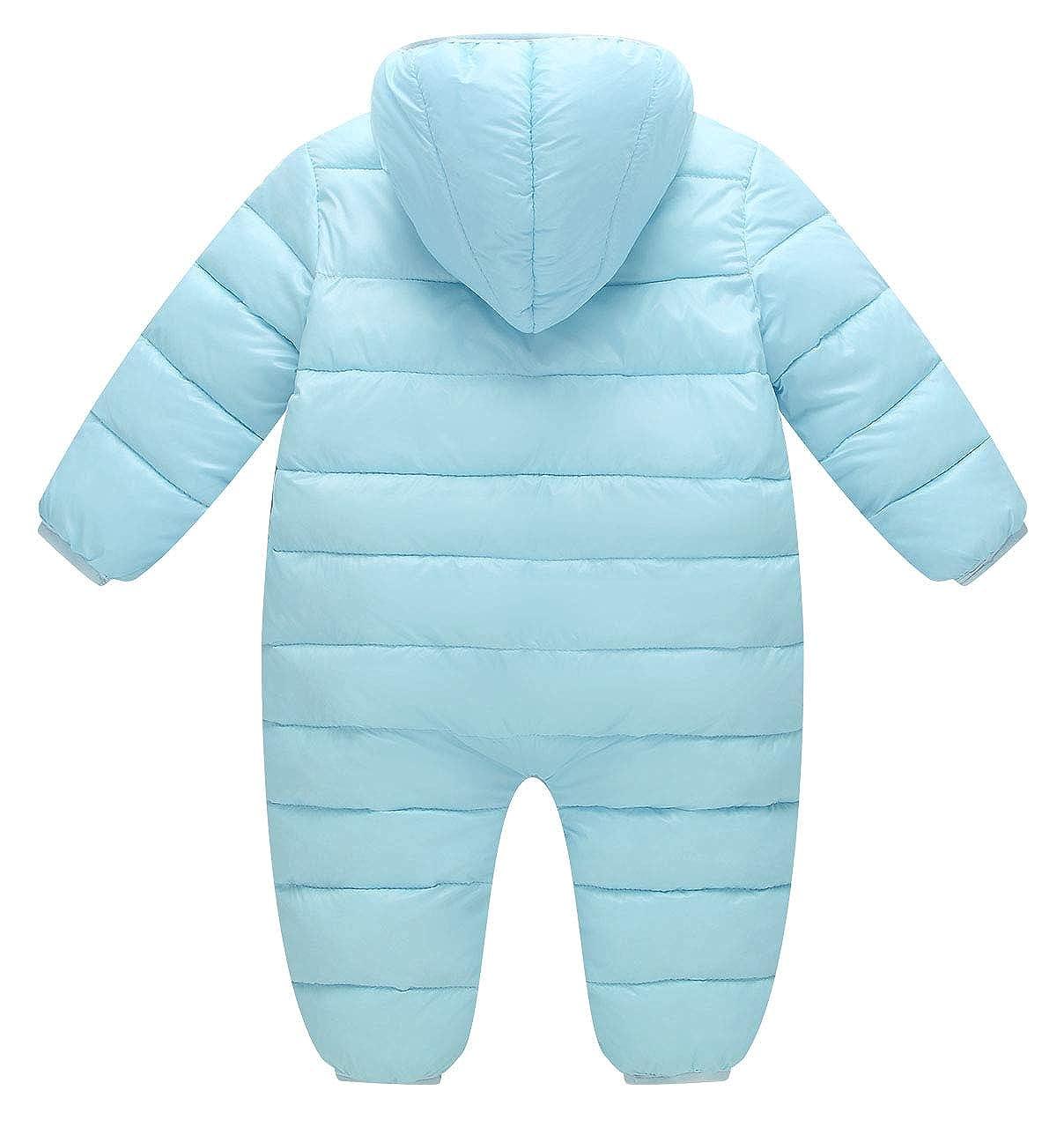 Ohrwurm Infant Boy Girls Onesie Down Jacket Baby Cute Zipper Long Sleeve Winter Snowsuit