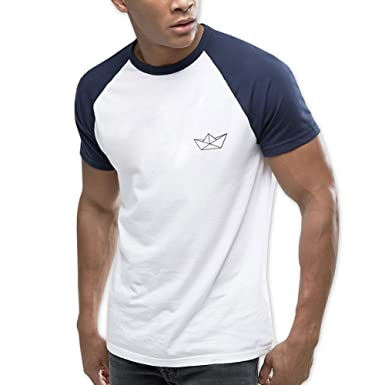 VIENTO Paper Ship Herren T-Shirt Baseball  Amazon.de  Bekleidung edc5057979