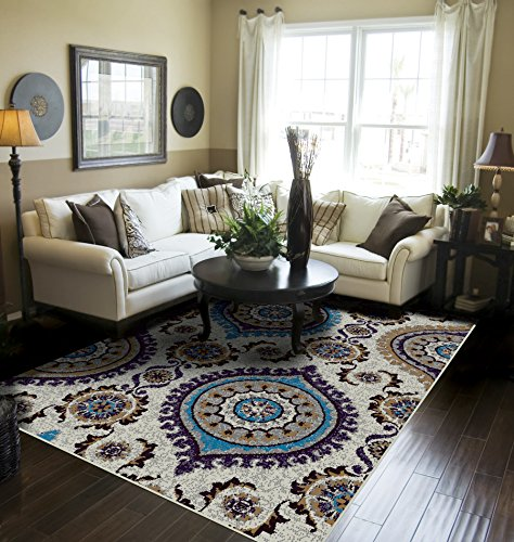 Blue Rugs for Living Room 8x10 Clearance