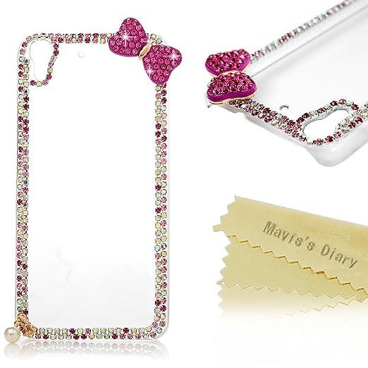 4 opinioni per Huawei Y6 Custodia Trasparente Bling Cristallo Strass Cover DIY 3D Diamante-