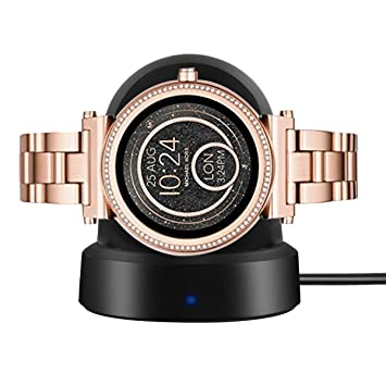 Ceston Chargeur De Station pour Smartwatch Michael Kors Sofie (Noir)