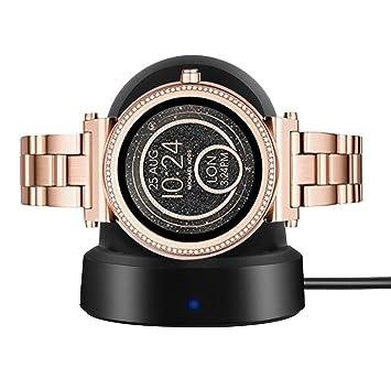 Ceston Cargador Charger para Smartwatch Michael Kors Sofie (Negro)