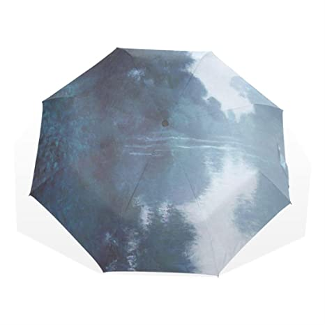 Monet Arts Oil Painting Seine River Custom Umbrellas Fully- Custom Umbrella Rain Women Paraguas Sunny