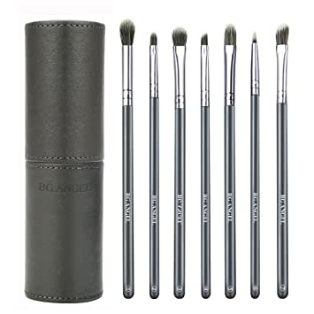 4ea6d857e Amazon.com: Eyeshadow Brush Set, BG ANGEL Essential Makeup Brushes 7 Pcs  Eyeshadow Blending Brushes with Case for Shading Blending Eyebrow Eyeshadow:  Beauty