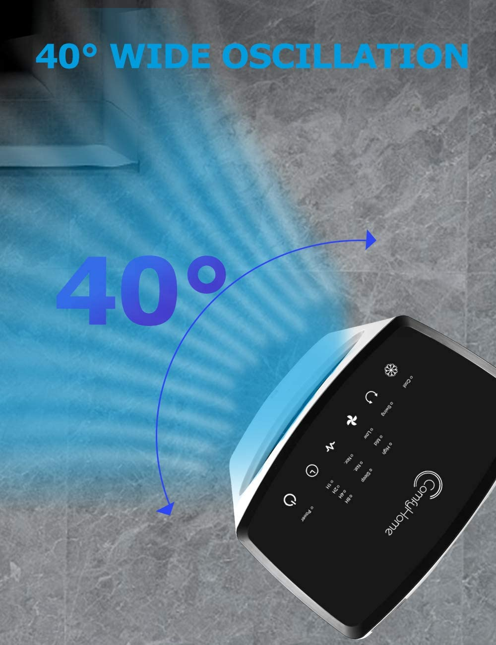 15H Timer 40/° Oscillation Remote Control for Home Office COMFYHOME 2-in-1 Air Conditioner Fan Bladeless Design 32 Evaporative Air Cooler w//Cooling/&Humidification Function 3 Wind Speeds 4 Modes