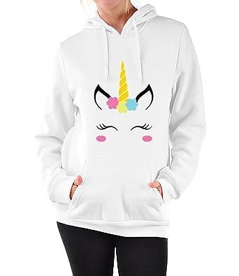 grande variété de modèles plutôt sympa en ligne ici BienBien Sweatshirt à Capuche Licorne Femme Ado Imprimé Lâche Manches  Longues Pullover Unicorn Hoodie Hip Hop Manteau Pull a Oreille Automne  Hiver ...