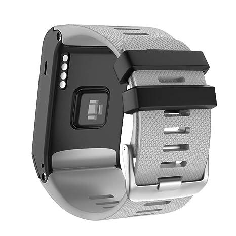2dad30baf419fd NotoCity Cinturino Compatibile con Garmin Vivovoactive HR Cinturino di  Ricambio in Silicone per Garmin Vívoactive HR
