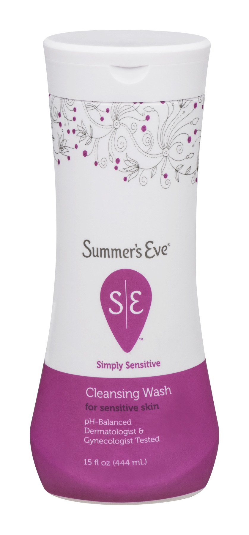 Summer's Eve Cleansing Wash | Simply Sensitive | 15 Ounce | Pack of 3 | pH-Balanced, Dermatologist & Gynecologist Tested