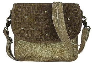 5607e188176415 Sunsa klein Damen Leder Tasche Umhängetasche Schultertasche Mini Handtasche  Vintage Retro Design Ledertasche hochwertige Crossbody Used