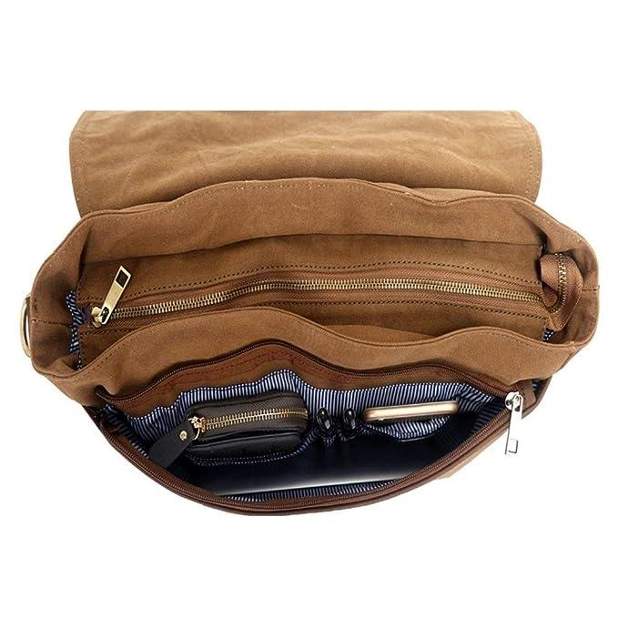Amazon.com: QASEW lona portafolios bandolera Crossbody Bolsa ...