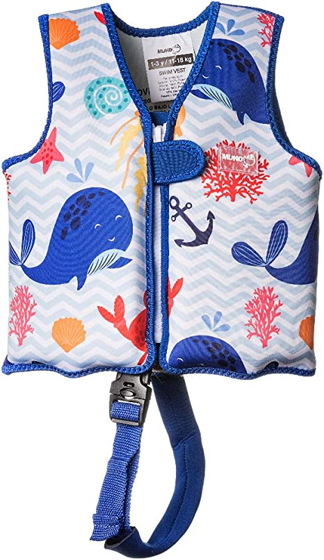 MUNDO PETIT Swim Vest Premium Boys And Girls Neoprene Float Buoyancy Jacket With Unique Safety Strap Children's Child's Kids Toddlers Swimming