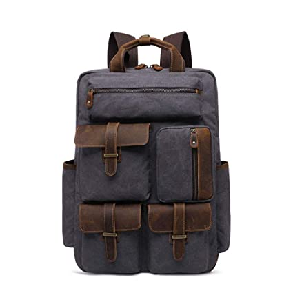 b08112eb8c09 Amazon.com: Xiejuanjuan Men's Handbags Backpack Outdoor Travel Retro ...