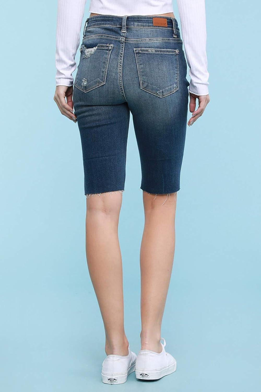 Judy Blue Distressed Cut Off Bermuda Shorts