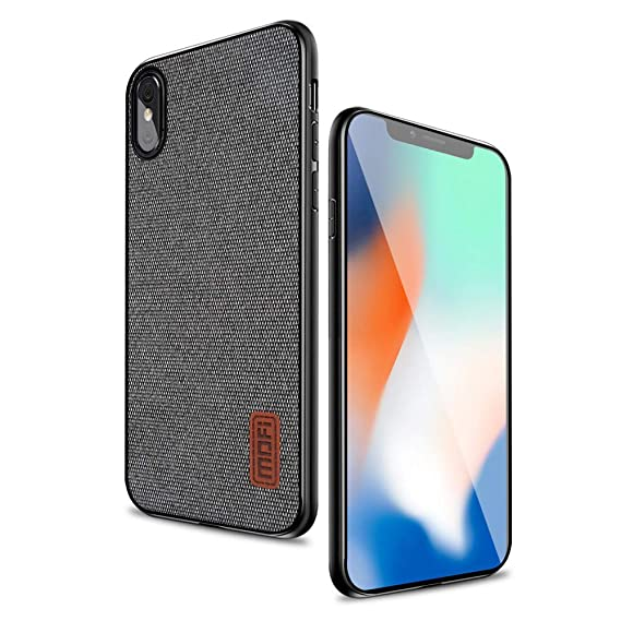 the latest bc11f 0c977 Mofi iPhone X Case Covers with Art Cloth & Soft TPU Edge and Full-Edge  Protection Shock- Absorbing and with Great Grip Fully Compatible for ...