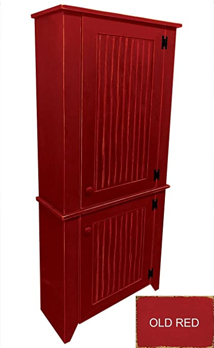 Amazon Com Sawdust City Tall Kitchen Cabinet Old Red Kitchen