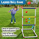 BenefitUSA Ladder Toss Game Set Golf Backyard Family Games with 6 Bolos Kids Child Sports Ladderball Adults