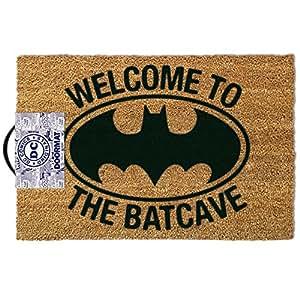 """Batman–Puerta/alfombra (tamaño: 24""""x 16"""") (Felpudo) (Bienvenido a la Batcueva)"""
