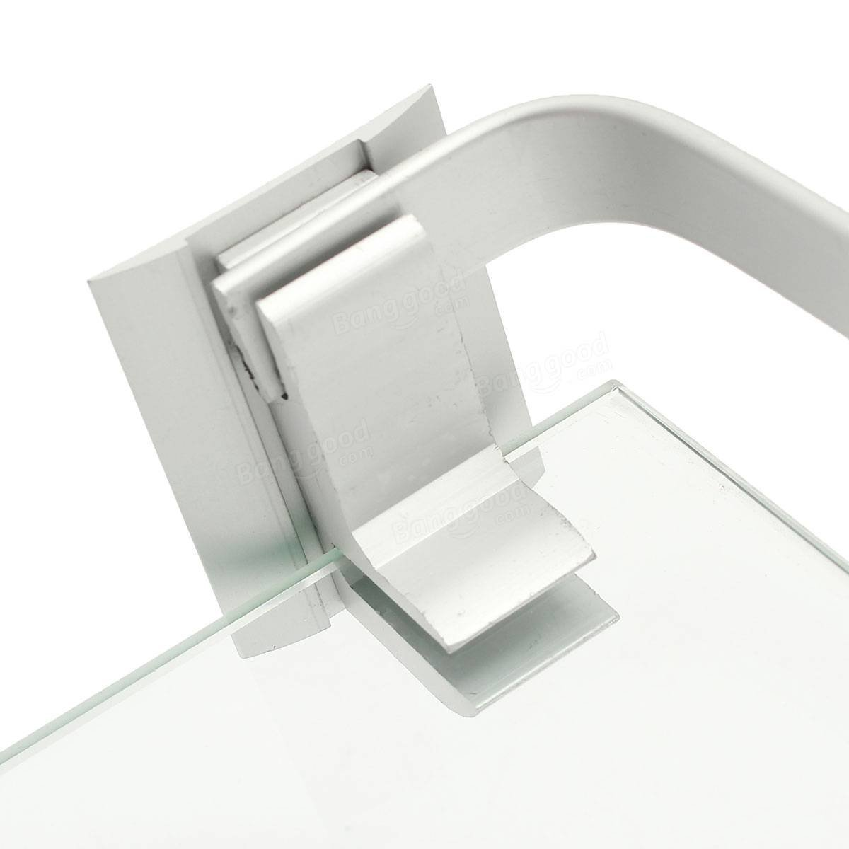 Lavatory Ledge - 60cm Armoured Glass Shower Caddy Bathroom Shelf Rectangle Wall Mounted Sundry Stand - John Facility Privy - 1PCs