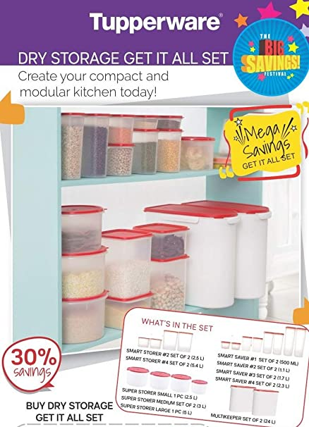 Buy Tupperware Plastic Dry Storage Red Online At Low Prices In India Amazon In