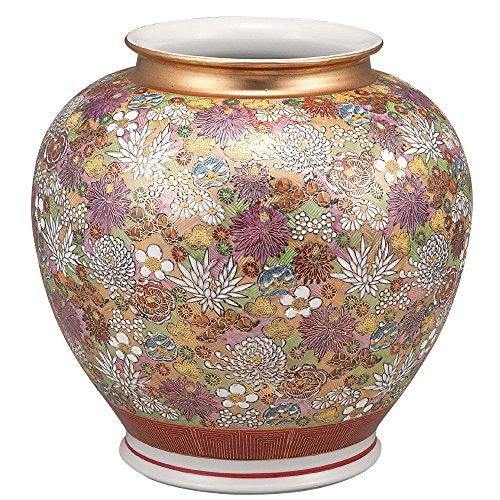 KUTANI YAKI(ware) Vase Gold Flowers