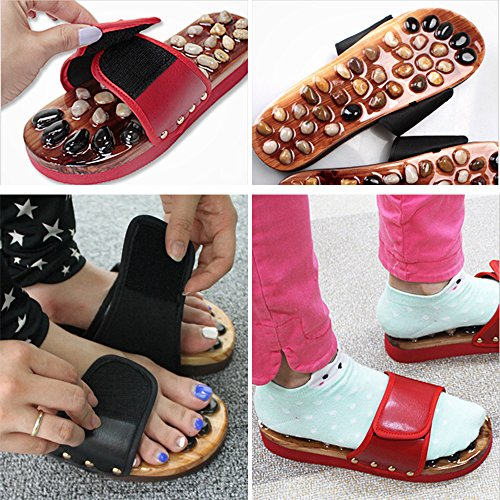 Slippers Acupoint Nature Slippers Women Red and Foot Men Xlight for Cobblestone Unisex ca Massage Shoes Foot 8qBIBxS