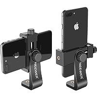 """Neewer 2-Pack Soporte Smartphone con Soporte Trípode 1/4"""" Adaptador Trípode con Clip Teléfono para iPhone XS MAX/XS/XR/X/8 Samsung S9+/ S9/ S8 y Otros Teléfonos Dentro 1.9-3.9 Pulgadas"""