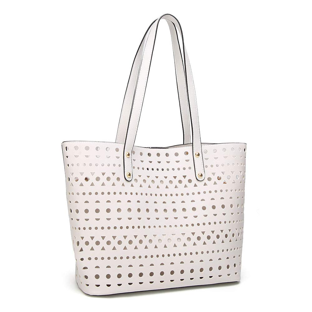 Jtoony handväska set dam dam fashion PU-läder handväska + axelväska + plånbok 3pcs set tote bag kvinnor handväska set (färg: Blue) vit
