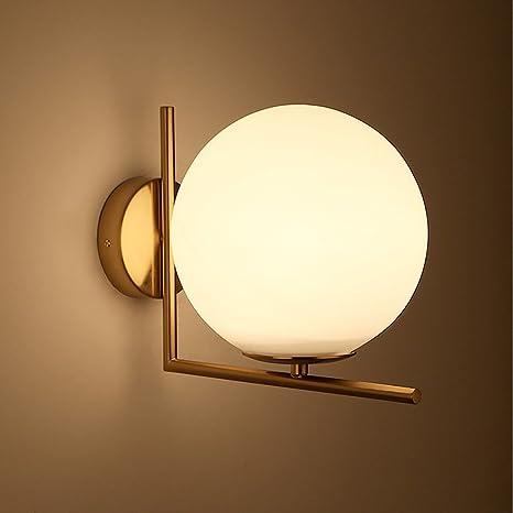 Lampada A Sfera Rotonda Oro A Led Lampada Da Parete Nordica Da