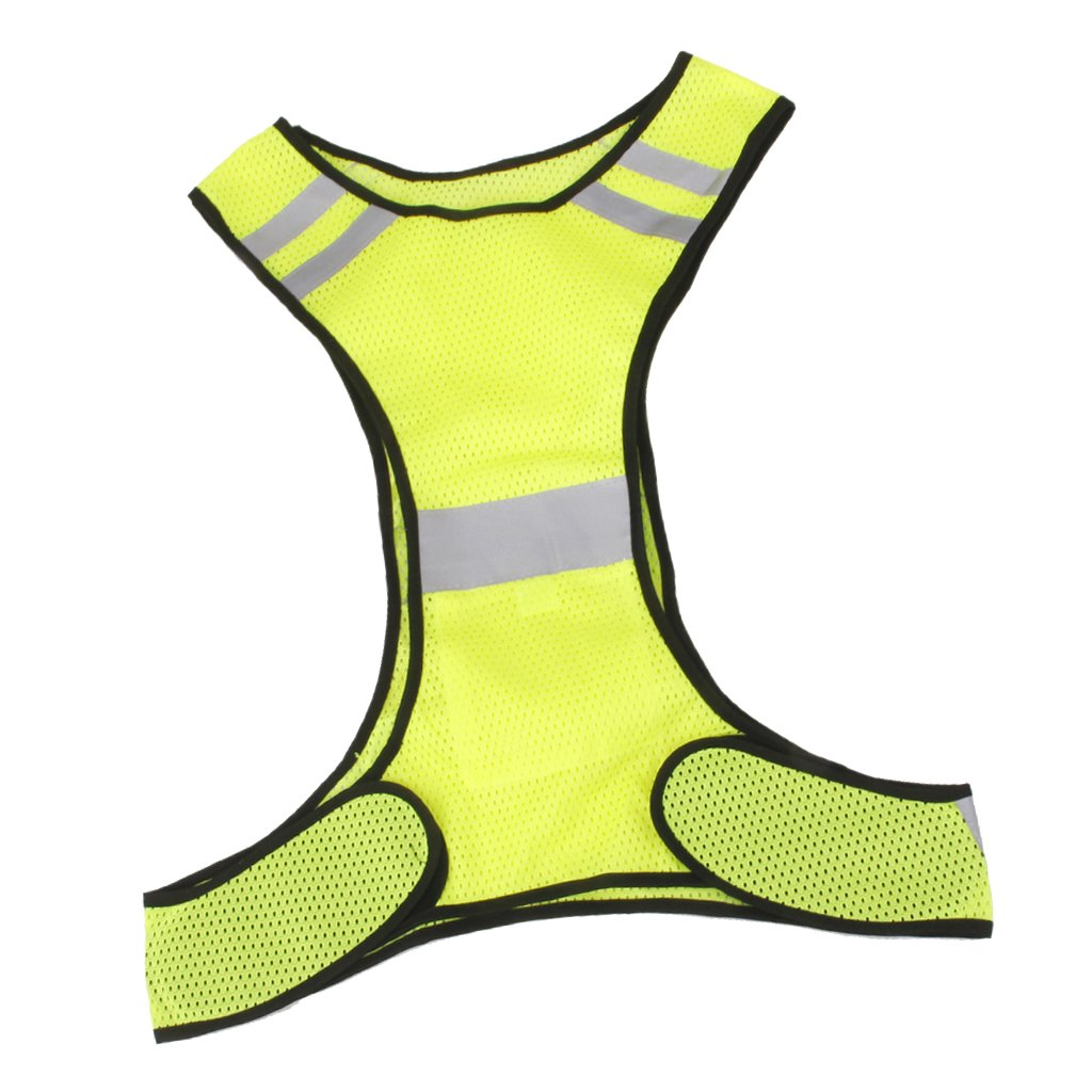 MagiDeal Reflective Safety Vest for Running Jogging Biking Cycling Walking - Yellow VBPAZKSFAZA639