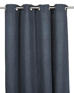 Harmony - Rideaux lin bleu Propriano - 100% lin lavé - bleu Navy ...